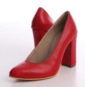 pantofi piele naturala rosu inchis