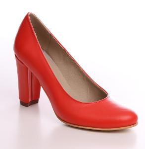 Pantofi din piele naturala corai cu toc imbracat la nuanta pantofilorPantofi din piele naturala corai cu toc imbracat la nuanta pantofilor