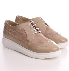 Pantofi Oxford piele naturala piele intoarsa