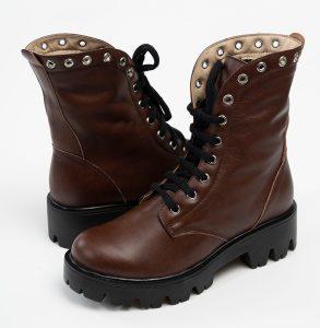Sandale din piele intoarsa nude cu inchidere in trei catarame GHETE DAMA MARO INALTE DIN PIELE NATURALA